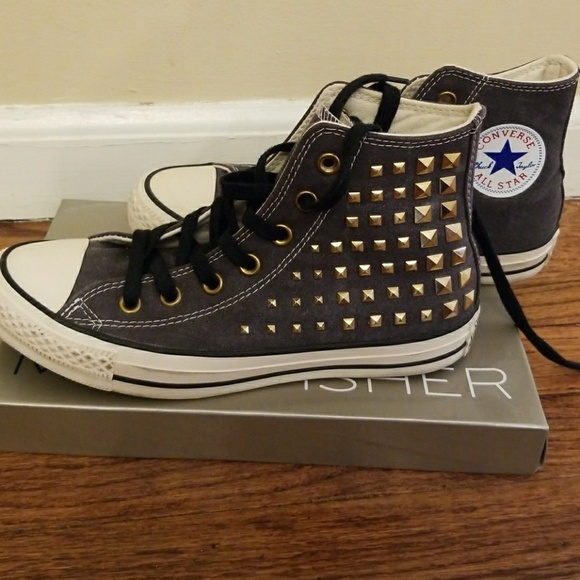 Converse chuck taylor all star studded hi tops